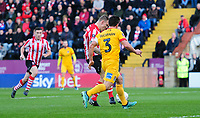 Lincoln City's Harry Anderson scores the opening goal<br /> <br /> Photographer Chris Vaughan/CameraSport<br /> <br /> Emirates FA Cup First Round - Lincoln City v Northampton Town - Saturday 10th November 2018 - Sincil Bank - Lincoln<br />  <br /> World Copyright &copy; 2018 CameraSport. All rights reserved. 43 Linden Ave. Countesthorpe. Leicester. England. LE8 5PG - Tel: +44 (0) 116 277 4147 - admin@camerasport.com - www.camerasport.com