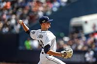 Eric Lauer.<br /> Acciones del partido de beisbol, Dodgers de Los Angeles contra Padres de San Diego, tercer juego de la Serie en Mexico de las Ligas Mayores del Beisbol, realizado en el estadio de los Sultanes de Monterrey, Mexico el domingo 6 de Mayo 2018.<br /> (Photo: Luis Gutierrez)