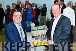 Rugby legend Mick Galway and Killarney and District Mayor Bobby O'Connell launched the Castleisland AFC Rusty AFter the Ring cycle in Castleisland on Friday evening the cycle will be on this Sunday in Castleisland