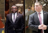 Former United States Representative Allen West (Republican of Florida) stands in an elevator when he arrives at Trump Tower on December 5, 2016 in New York City. U.S. President-elect Donald Trump is still holding meetings upstairs at Trump Tower as he continues to fill in key positions in his new administration. Photo Credit: John Angelillo/CNP/AdMedia