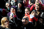 Egyptian protesters shout anti-military ruling council slogans during a protest at Tahrir Square, Cairo, Egypt Friday, Dec. 23, 2011. Several thousand Egyptians rallied in Cairo's central Tahrir Square Friday to denounce violence against protesters, especially outraged by images of women protesters dragged by their hair, beaten and kicked by troops. Photo by Ahmed Asad