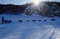 DeeDee Jonrowe on Yukon River Near Ruby