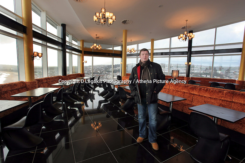 Pictured: Owner Mark Broadbent<br /> Re: The new Penthouse restaurant on the top three levels of Meridian Quay, the highest building in Wales situated in Swansea Marina. Wednesday 25 November 2009<br /> Picture by D Legakis Photography / Athena Picture Agency, 24 Belgrave Court, Swansea, SA1 4PY, 07815441513