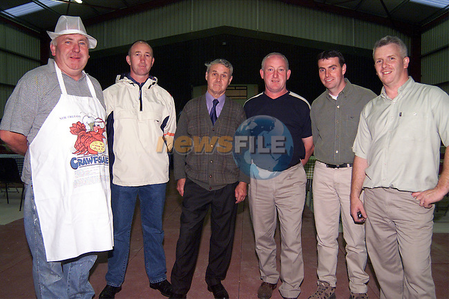 Tony Dowling, Jimmy Shortall, Des Gough, Venety Blake, Alan Battersby and Richard Connor at the BBQ in Cushinstown Athletic Club on Saturday night..Picture: Paul Mohan/Newsfile