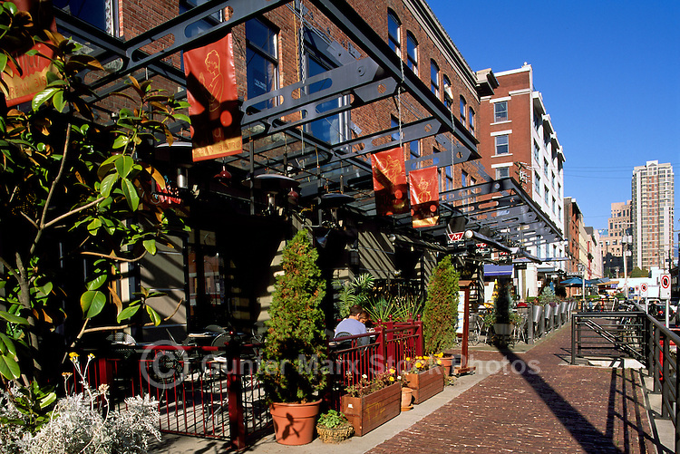 Vancouver, BC, British Columbia, Canada - Outdoor Restaurants and Patios in Historic Yaletown District, Downtown City, Summer