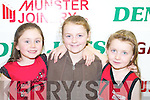 FANS: Young basketball fans at the St Mary's basketball blitz in Castleisland Community Centre on Sunday l-r: Nicole Downey, Labhaoise Walmsley and Laura Fleming.   Copyright Kerry's Eye 2008