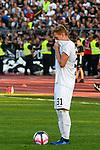 10.08.2019, Donaustadion, Ulm, GER, DFB Pokal, SSV Ulm 1846 Fussball vs 1. FC Heidenheim, <br /> DFL REGULATIONS PROHIBIT ANY USE OF PHOTOGRAPHS AS IMAGE SEQUENCES AND/OR QUASI-VIDEO, <br /> im Bild Enttaeuschung bei Nico Gutjahr (Ulm, #31)<br /> <br /> Foto © nordphoto / Hafner