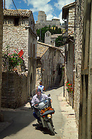 Assisi, Umbria, Italy, June 2006. Assisi is a good place to stay, when travelling through the beautiful surrounding countryside with its medieval walled villages and cities, olive groves and vineyards. Photo By Frits Meyst/Adventure4ever.com