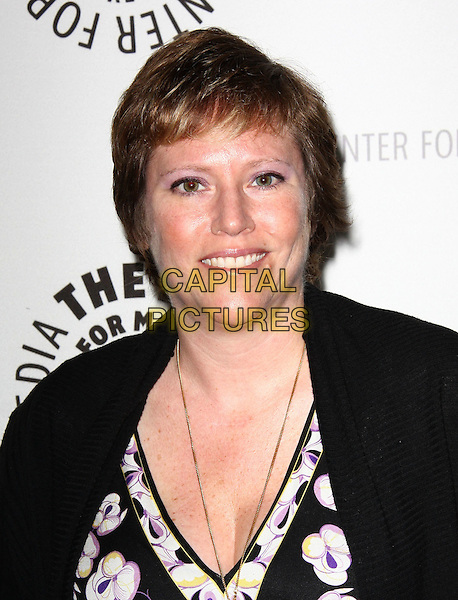 ELIZABETH SARNOFF .27th Annual PaleyFest Presents the television show 'Lost' held At The Saban Theatre, Beverly Hills, California, USA, 27th February 2010..arrivals portrait headshot purple necklace smiling black and white print top cardigan j.CAP/ADM/KB.©Kevan Brooks/Admedia/Capital Pictures