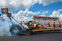 Sep 3, 2018; Clermont, IN, USA; NHRA top fuel driver Mike Salinas during the US Nationals at Lucas Oil Raceway. Mandatory Credit: Mark J. Rebilas-USA TODAY Sports