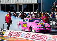 Oct 20, 2019; Ennis, TX, USA; NHRA pro stock driver Jeg Coughlin Jr during the Fall Nationals at the Texas Motorplex. Mandatory Credit: Mark J. Rebilas-USA TODAY Sports