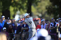 Sergio Garcia (Team Europe) on the 16th tee during Saturday afternoon Fourball at the Ryder Cup, Hazeltine National Golf Club, Chaska, Minnesota, USA.  01/10/2016<br /> Picture: Golffile | Fran Caffrey<br /> <br /> <br /> All photo usage must carry mandatory copyright credit (&copy; Golffile | Fran Caffrey)