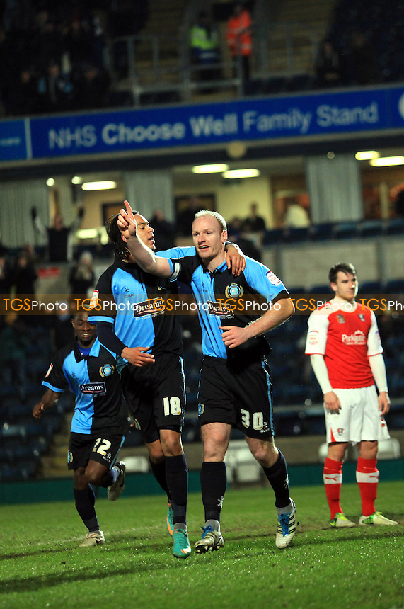 Gary Doherty celebrates his goal for Wycombe - Wycombe Wanderers vs Rotherham United - NPower League Two Football at Adams Park, High Wycombe - 12/03/13 - MANDATORY CREDIT: Paul Dennis/TGSPHOTO - Self billing applies where appropriate - 0845 094 6026 - contact@tgsphoto.co.uk - NO UNPAID USE.