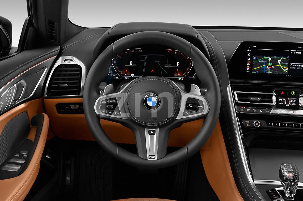 Car pictures of steering wheel view of a 2019 BMW 8 Series Basis 4 Door Sedan
