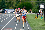 28 MAY 2016: Ryan Bugler of St. John's (Minn.)  of men's 3000 Meter Steeplechase enters its second lap during the Division III Men's and Women's Outdoor Track & Field Championship held at Walston Hoover Stadium on the Wartburg College campus in Waverly, IA. Ryan Bugler won the race with a time of 9:11.98. Conrad Schmidt/NCAA Photos
