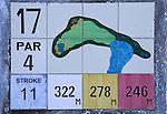 PORTUGAL - Hole bord van tegeltjes. Quinta do Conde- Golfbaan Quinta do Peru Golf & Country Club. COPYRIGHT KOEN SUYK