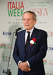 "September 27, 2016, Tokyo, Japan - Italian ambassador to Japan Domenico Giorgi delivers a speech for the opening of the Italian Week fair at the Isetan department store in Tokyo on Tuesday, September 27, 2016. Italian opera singer Vittorio Prato, who play an opera ""Japan Orfeo"" in this month here, performed at the ceremony.    (Photo by Yoshio Tsunoda/AFLO) LWX -ytd-"