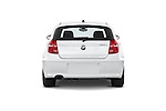 Straight rear view of a 2007 - 2011 BMW 1-Series 123d 3 Door Hatchback 2WD.