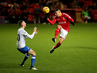Ahmed Kashi of Charlton heads the ball upfield during Charlton Athletic vs Portsmouth, Checkatrade Trophy Football at The Valley on 7th November 2017