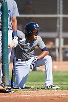 San Diego Padres second baseman Kelvin Melean (4) during an Instructional League camp day on October 4, 2016 at the Peoria Sports Complex in Peoria, Arizona.  (Mike Janes/Four Seam Images)