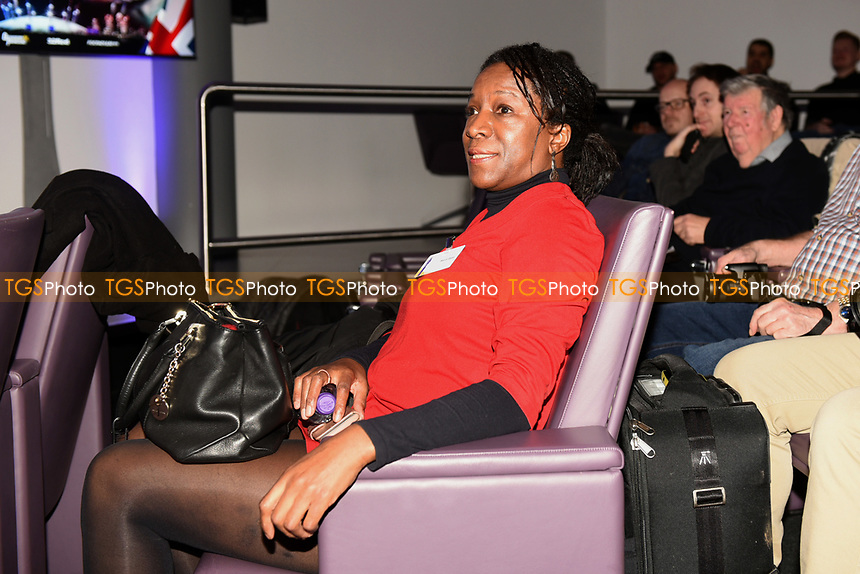 Joe Joyce's mother Marvel Opara during a Press Conference at the BT Tower on 7th February 2020