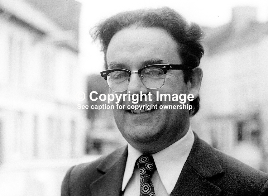 Fergus McQuillan, SDLP, candidate, Fermanagh &amp; South Tyrone, N Ireland Assembly Election, June, 1973, 197306050356<br />