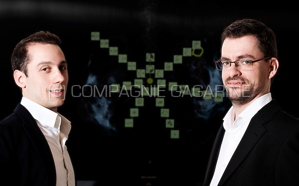 Edouard Delvaulx and Vincent Nicolas, founders and respectively COO and CEO of the medical imaging company Intuitim (Belgium, 19/11/2014)