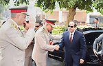 A handout picture released by the Egyptian Presidency shows Egyptian President Abdul Fattah al-Sisi after their visit to former Egyptian President Sadat's grave and the memorial of the Unknown Soldier tomb on October 4, 2015 in Cairo, as part of the celebrations marking the 42th anniversary of October War Victory. Photo by Egyptian President Office