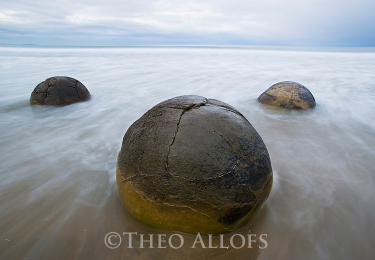 Moeraki Boulders at dawn, New Zealand, South Island