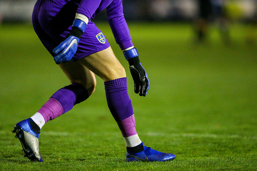 Guiseley's Joe Green in action<br /> <br /> Photographer Alex Dodd/CameraSport<br /> <br /> The Emirates FA Cup Second Round - Guiseley v Fleetwood Town - Monday 3rd December 2018 - Nethermoor Park - Guiseley<br />  <br /> World Copyright © 2018 CameraSport. All rights reserved. 43 Linden Ave. Countesthorpe. Leicester. England. LE8 5PG - Tel: +44 (0) 116 277 4147 - admin@camerasport.com - www.camerasport.com