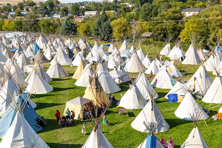 The Indian Village at Pendleton Round Up Rodeo, Pendleton OR, USA