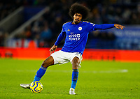 11th January 2020; King Power Stadium, Leicester, Midlands, England; English Premier League Football, Leicester City versus Southampton; Hamza Choudhury of Leicester City on the ball - Strictly Editorial Use Only. No use with unauthorized audio, video, data, fixture lists, club/league logos or 'live' services. Online in-match use limited to 120 images, no video emulation. No use in betting, games or single club/league/player publications