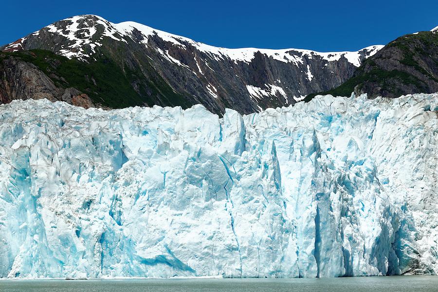 Terminus face of Sawyer Glacier, Tracy Arm, Southeast Alaska, USA