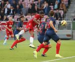 08.08.2019 FC Midtjylland v Rangers: Alfredo Morelos scores for Rangers