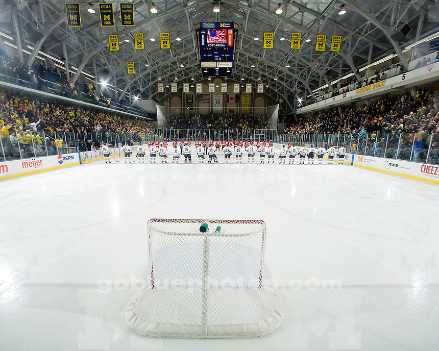 1/10/09  Ice hockey vs. Miami (Ohio) University at Yost Ice Arena.  Michigan went on to win 5-1.