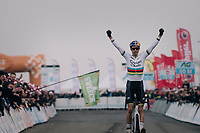 Wout van Aert (BEL/Crelan-Charles) winning his 3rd consecutive Belgian National Elite Title<br /> <br /> Elite Men's Race<br /> Belgian National CX Championships / Koksijde 2018