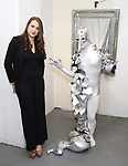 Leah Lane and performing artist attends the ChaShaMa 'Open Studios' Opening Night Reception on October 12, 2018 at the Brooklyn Army Terminal in Brooklyn, New York.