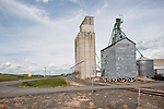 Concrete and corrugated grain elevators, Whitman County, Wash.