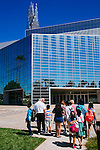The Roman Catholic Church bought the Crystal Cathedral out of bankruptcy in 2011 and is currently transforming the iconic campus into a cathedral. Construction on Christ Cathedral will be complete in 2016. Tours are given twice daily Monday through Saturday, including this tour group on the campus in Garden Grove, California August 5, 2014. <br /> CREDIT: Kendrick Brinson for The Wall Street Journal<br /> OCTV