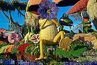 "La Canada Flintridge ""Rainforest Fiesta"" float Los Angeles California Rose Parade Tournament of Roses Parade Pasadena CA"