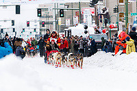 Mitch Seavey during the ceremonial start of the 2018 Iditarod in Anchorage, Alaska on Saturday, March 3, 2018.<br /> <br /> Photo by Jeff Schultz/SchultzPhoto.com  (C) 2018  ALL RIGHTS RESERVED