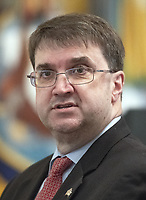 United States Secretary of Veterans Affairs Robert Wilkie, prior to the arrival of US President Donald J. Trump who will make remarks at the Congressional Medal of Honor Society Reception in the East Room of the White House in Washington, DC on Wednesday, September 12, 2018.<br /> CAP/MPI/RS<br /> &copy;RS/MPI/Capital Pictures