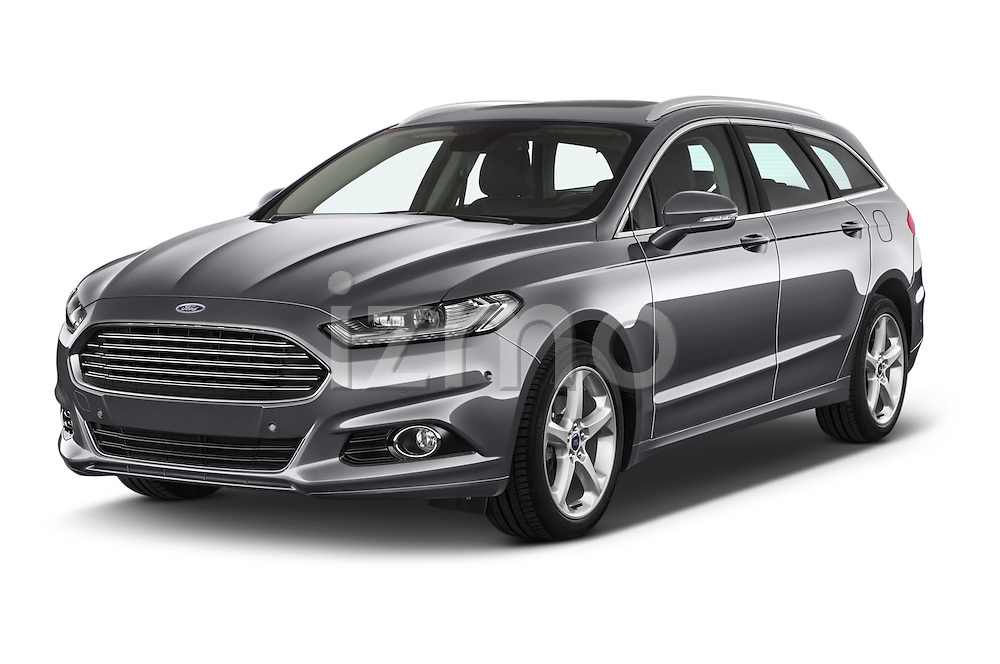 2015 Ford Mondeo Titanium 5 Door Wagon 2WD Angular Front stock photos of front three quarter view
