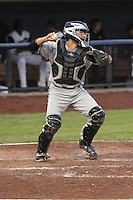 Wisconsin Timber Rattlers catcher Carlos Leal (11) during a Midwest League game against the Quad Cities River Bandits on May 8th, 2015 at Modern Woodmen Park in Davenport, Iowa.  Quad Cities defeated Wisconsin 11-6.  (Brad Krause/Four Seam Images)