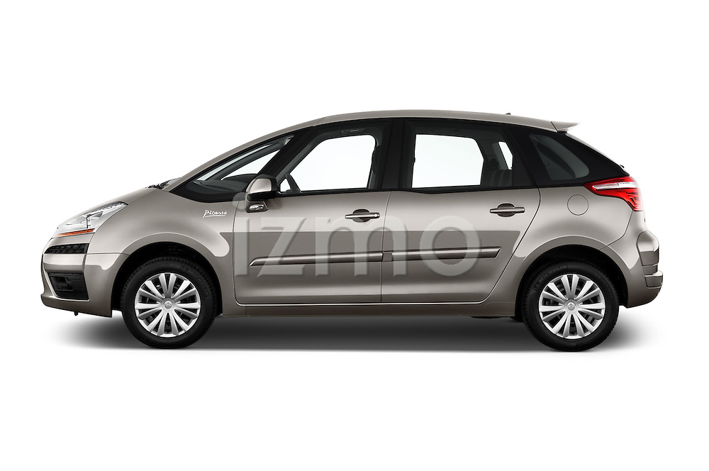 Driver side profile view of a 2006 - 2012 Citroen C4 Picasso Business Mini MPV.