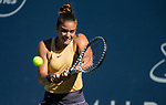 August 2, 2019: Maria Sakkari (GRE) in action where she defeated Elina Svitolina (UKR) 1-6, 7-6, 6-3 in the quarterfinals of the Mubadala Silicon Valley Classic at San Jose State in San Jose, California. ©Mal Taam/TennisClix/CSM
