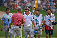 Rickie Fowler (USA) shakes hands following day 3 of the Valero Texas Open, at the TPC San Antonio Oaks Course, San Antonio, Texas, USA. 4/6/2019.<br /> Picture: Golffile | Ken Murray<br /> <br /> <br /> All photo usage must carry mandatory copyright credit (&copy; Golffile | Ken Murray)
