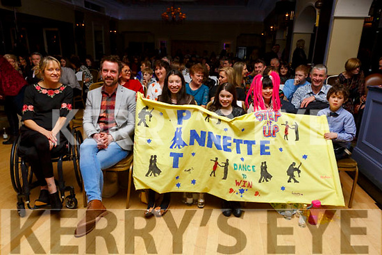 Supporters of Pat Keane and Annett Murphy at the Ballymac Strictly Love dancing in the Ballygarry House Hotel on Saturday.