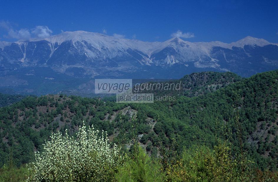 Europe/Turquie/Env d'Altinyata : Le Mont Taurus (Plus grande chaîne de montagnes de Turquie)