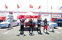 Jun. 2, 2012; Englishtown, NJ, USA: NHRA Toyota display during qualifying for the Supernationals at Raceway Park. Mandatory Credit: Mark J. Rebilas-